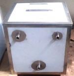 Бак расширительный с крышкой125л, нерж. сталь AISI 430 #1,5мм, 500*500*500